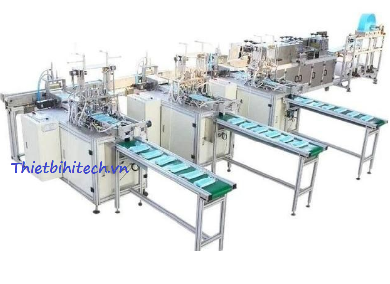 Dây chuyền sản xuất khẩu tran ba lớp bốn lớp 180-200 sản phẩm/phút