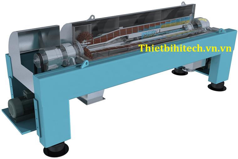 Máy lọc ly tâm trục ngang kiểu decanter upto 500M3/H