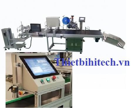 Máy dán nhán nhãn kết hợp in nhãn tự động, Năng suất máy 30-80 sản phẩm/phút