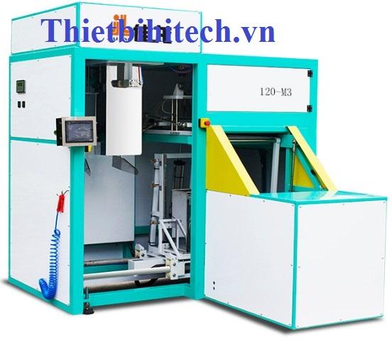 Máy đóng gói hút chân không, năng suất 120 gói/giờ, 12,5-25kg/gói