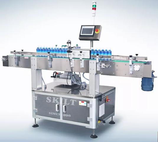 máy dán tem nhãn sản phẩm chai lọ kiểu dáng tròn