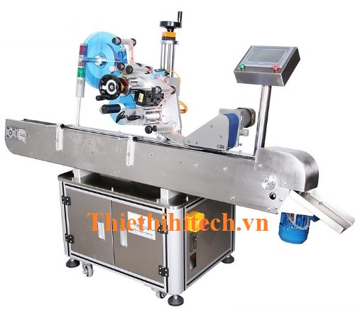 Máy dán nhãn chai lọ tròn nhỏ tự động, Năng suất 100-300 sản phẩm/phút
