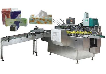 Máy đóng gói hộp giấy tissue tự động tốc độ 80 hộp/phút
