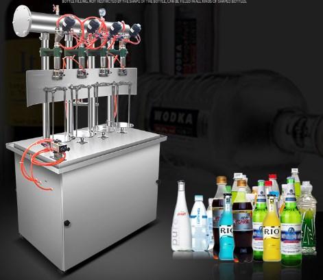 máy chiết rót nước giải khát có gas  CO2, loại 2,4, 6 đầu