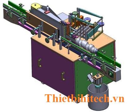 Máy dán nhãn keo ngoài, máy dán nhãn giấy, năng suất: 40-160 chai/phút