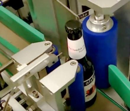 Máy dán nhãn chai bia tự động, máy dán nhãn rượu vang tự động