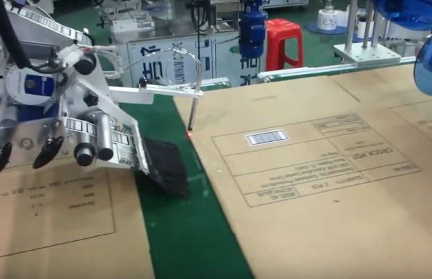 Máy dán nhãn bìa carton khổ rộng, máy tự động tốc độ cao