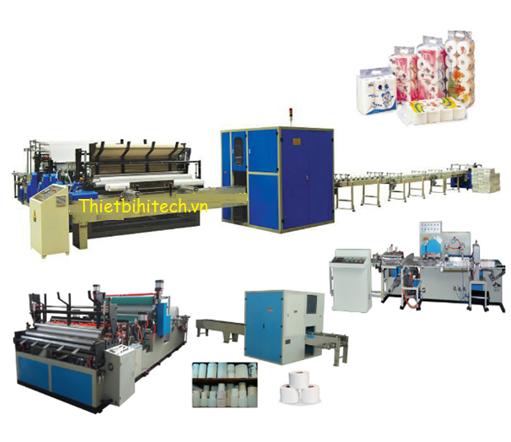 Dây chuyền sản xuất giấy vệ sinh tự động khép kín