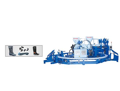 Dây truyền sản xuất ủng nhựa đa năng đầu tư thấp oneTwo three Color Rain Boot Machine