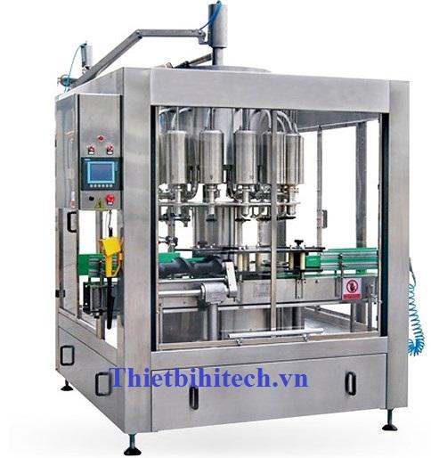 Máy chiết rót nước giấm, xì dầu, nước mắm năng suất 500 chai-3000 chai/giờ