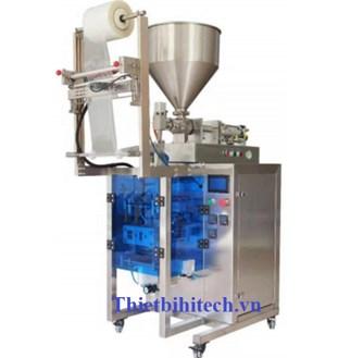 Máy đóng gói dung dịch lỏng sệt gel dầu gội sữa tắm năng suất 20-60 gói/phút