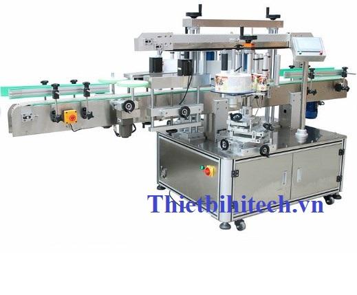 Máy dán nhãn chai hai mặt sử dụng chai vuông chai dẹp; Năng suất 30-160 sản phẩm/phút