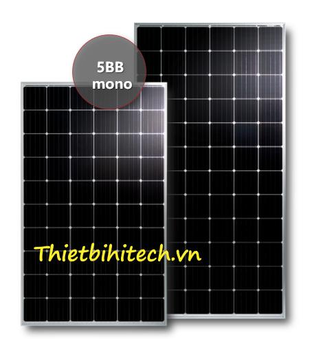 Tấm pin năng lượng mặt trời đơn tinh thể 370W