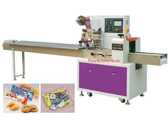 Máy đóng gói bánh kẹo trục ngang năng suất 330 sản phẩm/phút