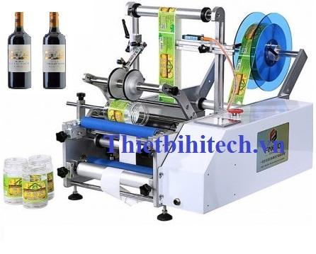 Máy dán nhãn chai tròn bán tự động Năng suất máy: 15-30 sản phẩm/phút